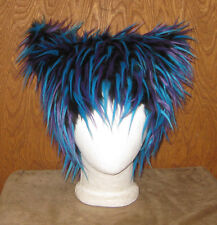 CHESHIRE ELECTRO  KITTY CAT FUR HAT ANIME COSPLAY CYBER EDM FESTIVAL WIG BURNER
