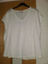 M & S Per Una Cotton Modal T-Shirt Top Size 18 BNWT Ladder Stitch