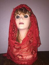 Red Long Scarf Hijab Wrap Sheer pretty and fashionable Last Ones