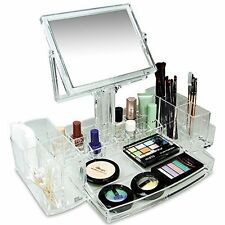 Cosmetic Storage Beauty Display Box Holder Makeup Vanity Acrylic Organizer Store