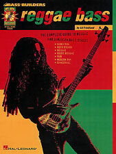 Learn Bass Guitar Builders REGGAE SLAP SKA DUB TAB Music Book & CD LESSON GUIDE