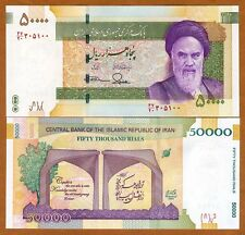 Iran, 50000 (50,000) Rials, ND (2015), P-New, UNC   Khomeini, New Design