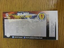25/03/2015 Ticket: Scotland v Northern Ireland [At Hampden Park] (faded print, f