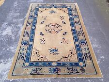 Antique Art Deco Chinese Rug With Ivory Colour Background