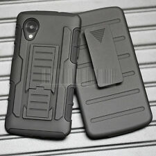 Rugged Armor Hybrid Case Hard Impact Cover Holster For Google LG Nexus 5 D820