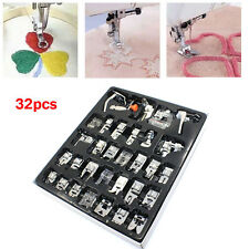 32pcs Presser Foot Feet Kit For Singer Brother Domestic Sewing Machine Part Tool