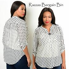 New Ladies Polkadot Top Plus Size 20 (9900)NI