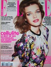 ELLE  N° 3457 de 2012 NATALIA VODIANOVA CARLA BRUNI MANAUDOU MICHELLE WILLIAMS