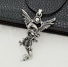 Tibetan punk Silver dragon Pendant Necklace Stainless Steel Chain Necklace LOCA