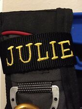 Custom  Embroidery Personalized Embroidered Name Tag Scuba BCD
