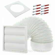 "Venting Kit For Indesit Tumble Dryer External Vent Wall Outlet 4"" 100mm White"