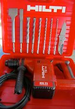 HILTI TE 14 HAMMER DRILL, PREOWNED, IN EXCELLENT CONDITION,FREE BITS AND CHISELS