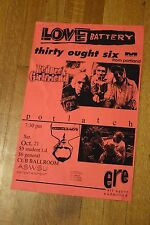 Love Battery Thirty Ought Six Rare WSU Concert Gig Show Poster Sub Pop Seattle