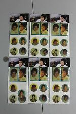 RARE 6 MICHAEL JACKSON 1980s PUFFY STICKERs MINT SEALED PACKS NOS HTF MISP VTG