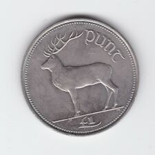 1990 Ireland Irish Eire One Pound Punt Red Deer Stag D-182