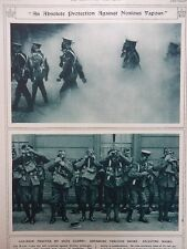 1917 GAS MASK PRACTICE BY SCOTS GUARDS; AMMUNITION LIGHT RAILWAY WWI WW1