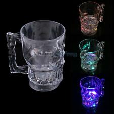 New Water Inductive LED Glowing Cup Skull Shape Wine Beer Mug for Party Pub