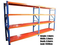 Shelving workshop garage warehouse shed racking 3.9m X 2.0m X 0.6m