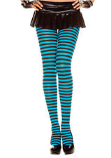 NYLON STRIPE TIGHTS MANY COLORS ONE SIZE