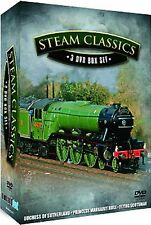STEAM CLASSICS - 3 DVD BOX SET INCL FLYING SCOTSMAN - FREE POST IN UK