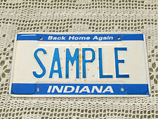 Indiana USA Number / License Plate - SAMPLE - Rare