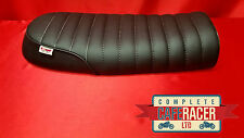 bs24 BRAT / SCRAMBLER STYLE CAFE RACER SEAT FINISHED IN BLACK LEATHERETTE NEW