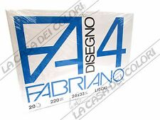 FABRIANO - DISEGNO 4 - F4 - 200 g/mq LISCIO - 24x33cm - BLOCCO 20FG A 4 ANGOLI