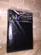 "BLACK CHALKBOARD TABLECLOTH 70"" ROUND"