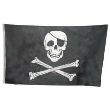 3x5 FT Skull Crossbones Jolly Roger Pirate Flags Grommets Banner Halloween Deco