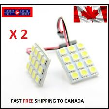 T10 12SMD/Festoon White LED Panel Interior Dome Map RV Light W/Adap Xenon