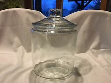 Large Clear Glass Canister Cookie Jar Kitchen Container Storage **