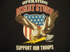 Vintage new NOS Operation Desert Storn military support troops RARE T Shirt L