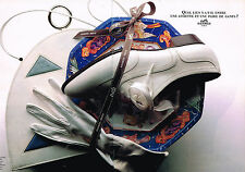 PUBLICITE ADVERTISING 064  1990  HERMES  collection gants  ( 2 pages)