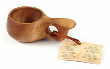 Children KUKSA Nordic wooden cup HANDMADE in Lapland from CURLY BIRCH - No04