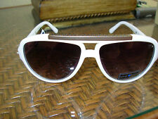 GUESS TIESTOW WOMENS WHITE LIMITED EDITION AVIATOR SUNGLASSES GU 7256 BLK-35 NWT