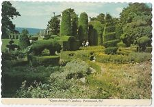 Postcard Rhode Island Portsmouth The Green Animals Garden Topiary 1970s Nr MINT
