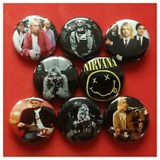 NIRVANA 8 buttons pin backs COBAIN GROHL NEVERMIND