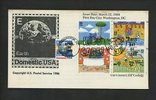 Ranto Cachet US FDC #2951-2954 on 2277 Kids Care Domestic Earth stamp 1995