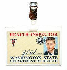Supernatural Dean Winchester Health Inspector ID Badge Cosplay Costume Halloween