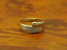 14kt 585 GOLD RING MIT DIAMANT BESATZ / DIAMANTRING / BRILLANTRING / 1,1g.