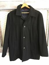 Tommy Hilfiger Winter Coat XL Men's Peacoat Black WOOL Blend