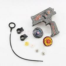 4D Beyblade Metal Fusion Masters Fight Dual Launcher Kids Toy Game Set Black