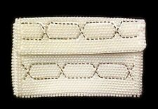 Clutch Purse Ivory Hand Beaded Japan Bags by Susan 1960's Bag Vintage