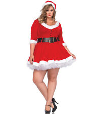 Sexy Leg Avenue Mrs Claus Christmas Holiday Costume Lingerie Plus Size 1X/2X