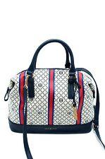 TOMMY HILFIGER Handbag*Navy Blue-Mult Bowler Satchel Shoulder Purse Tote New $85
