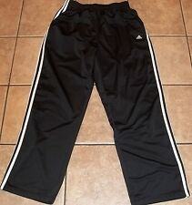 Mens ADIDAS~BLACK TRACK PANTS size XL~NEW Athletic Jogging Pair NWOT