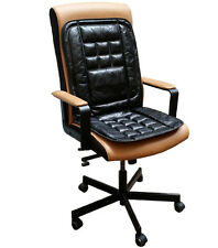Orthopaedic Leather Back Support Protect Massage Office Chair Seat Cover Cushion