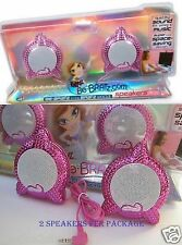 BRATZ SPEAKERS FOR COMPUTERS! QUALITY SOUND! SET OF 2! HOT PINK! BRATZ! 1 BOX!