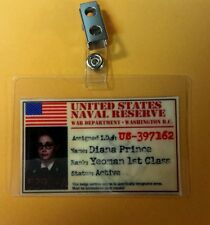 Wonder Woman  ID Badge-USNR  Diana Prince  pic cosplay costume prop