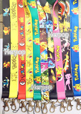 500pcs Pokemon Pikachu Mixed Lanyards For ID Badge Mobile Phone Key Chain go-01